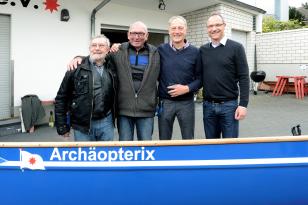 Mit der Unterstützung des Förderkreises, KLASSE Projektes der AWB und der Stadt Köln konnten wir ein neues Ruderboot kaufen.